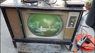 Wards Airline CTC 15 Ressurection Repair 1964 Color Television Roundie pt1