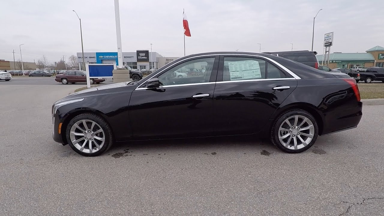 2018 Cadillac Cts 2 0l Turbo Awd Luxury Stellar Black Youtube
