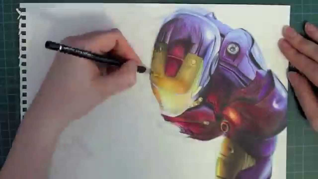iron man drawing youtube - Iron Man Pictures To Colour