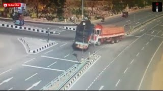 CCTV Footage Of Car Accident On Nizambad Hyderabad National Highway