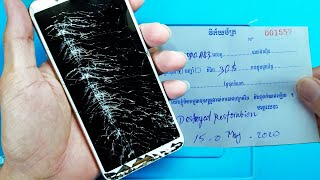Destroyed phone Restoration    Restore OPPO A83   Rebuild Broken Phone