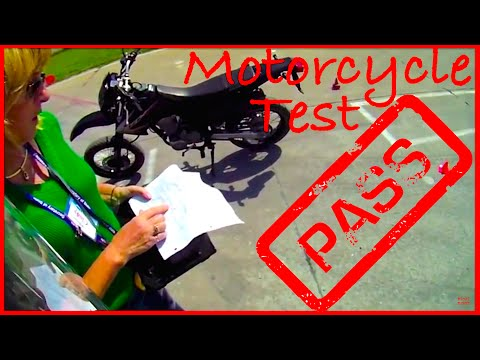 (POV) illinois Motorcycle Test - Pass