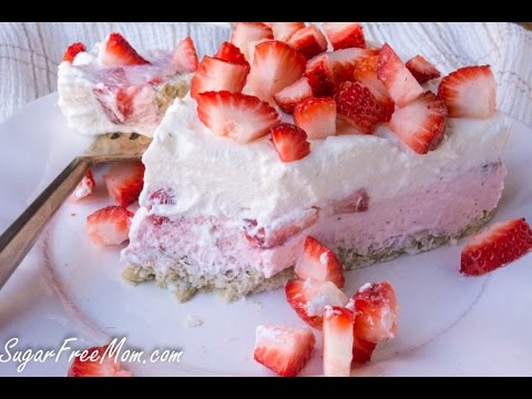 Sugar-Free Low Carb Strawberry Mouse Pie
