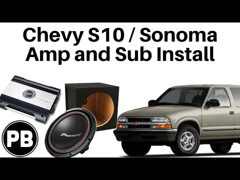 1998 2004 Chevy S10 Gmc Sonoma Sub And Amp Install