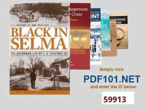 Black in Selma The Uncommon Life of J L  Chestnut Jr  Fire Ant Books