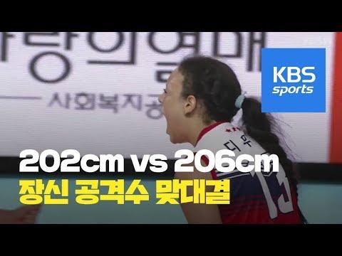 202cm VS 206cm, 디우프, 장신 공격수 맞대결 승리! / KBS뉴스(News)