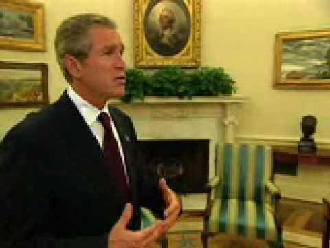 President Bush Oval Office Tour