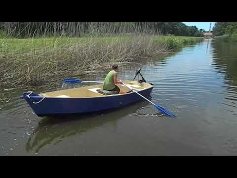 Testing out our homemade boats