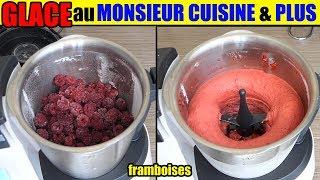 glace monsieur cuisine plus sorbet framboise fruits congelés fraise ananas fruit rouge etc..