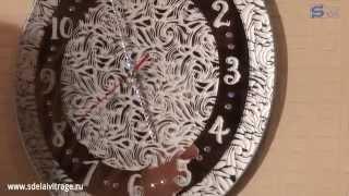 Настенные часы своими руками(Больше уроков смотрите на сайте http://sdelaivitrage.ru/ Подписывайтесь на видео-канал