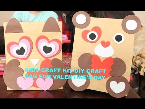 Kids Craft Kit Craft Bag For Valentine S Day Youtube