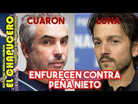 Diego Luna y Alfonso Cuarón se MOLESTAN con Peña Nieto ¡y así lo TROLEARON!