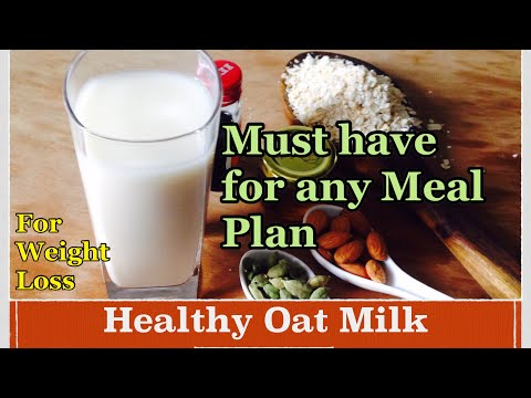 Oat Milk Recipe | How to make Healthy flavoured Oats Milk at home  | Diet Plan for Weight Loss