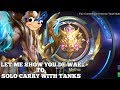 HOW TO SOLO CARRY TO MYTHIC WITH TANKS || Mobile Legends
