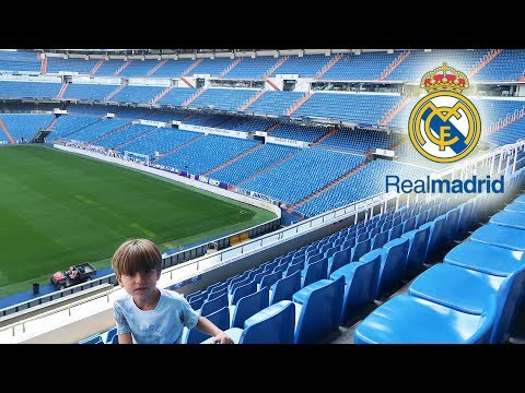 REAL MADRID Stadium  - Santiago Bernabeu Tour #1   Family Fun Trip