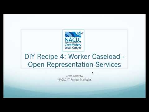 CLASS DIY Recipe 4: Worker Caseload - Representation services