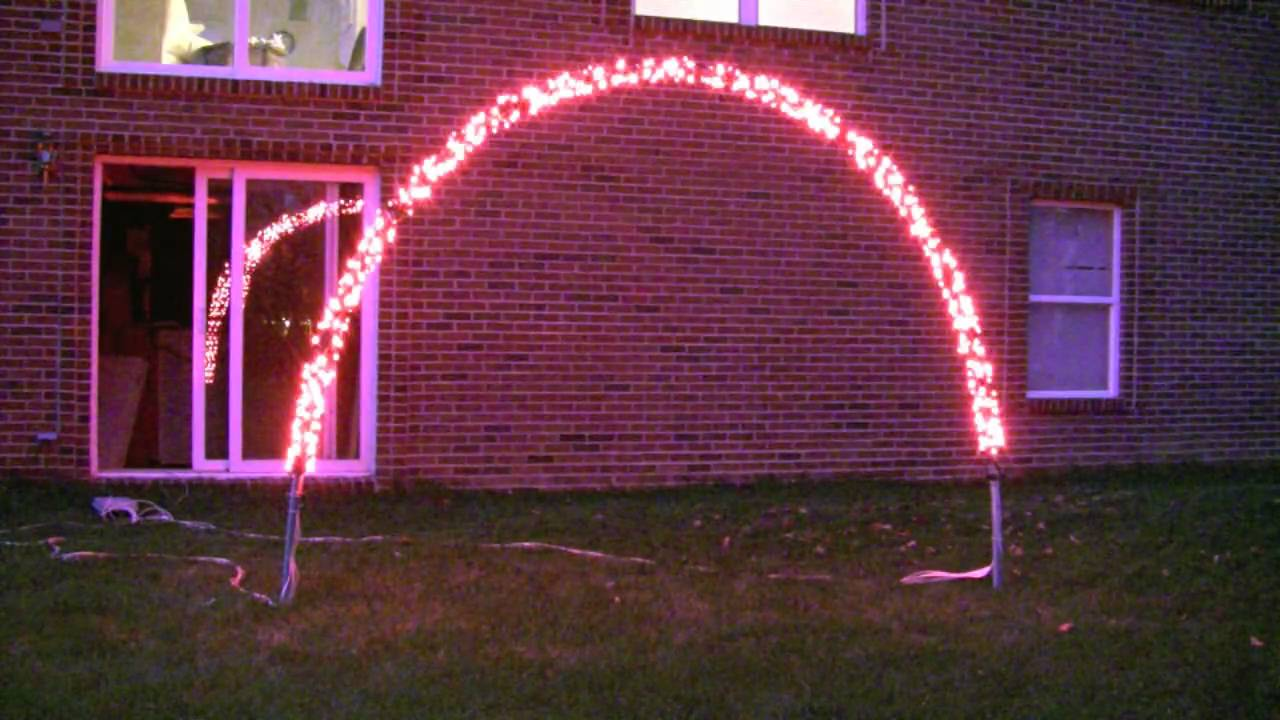 prototype of an arch for our 2010 christmas light display