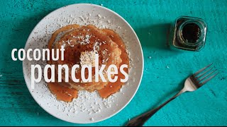 Vegan Gluten-free Coconut Pancakes | Hot For Food