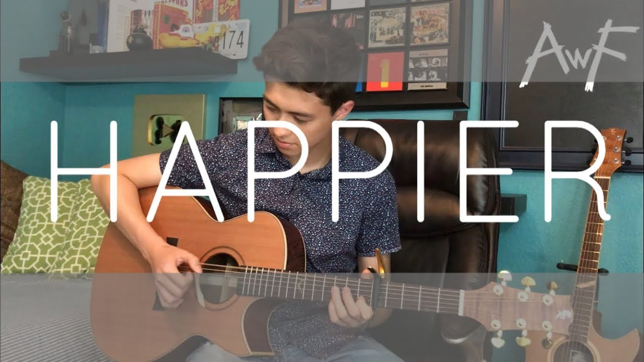 Happier - Marshmello ft. Bastille - Cover (fingerstyle guitar) image