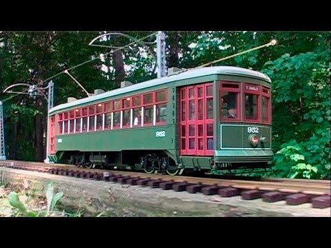 LGB G-Scale Streetcar with Overhead Wire