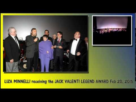 LIZA MINNELLI receiving the JACK VALENTI LEGEND AWARD Feb 20, 2015