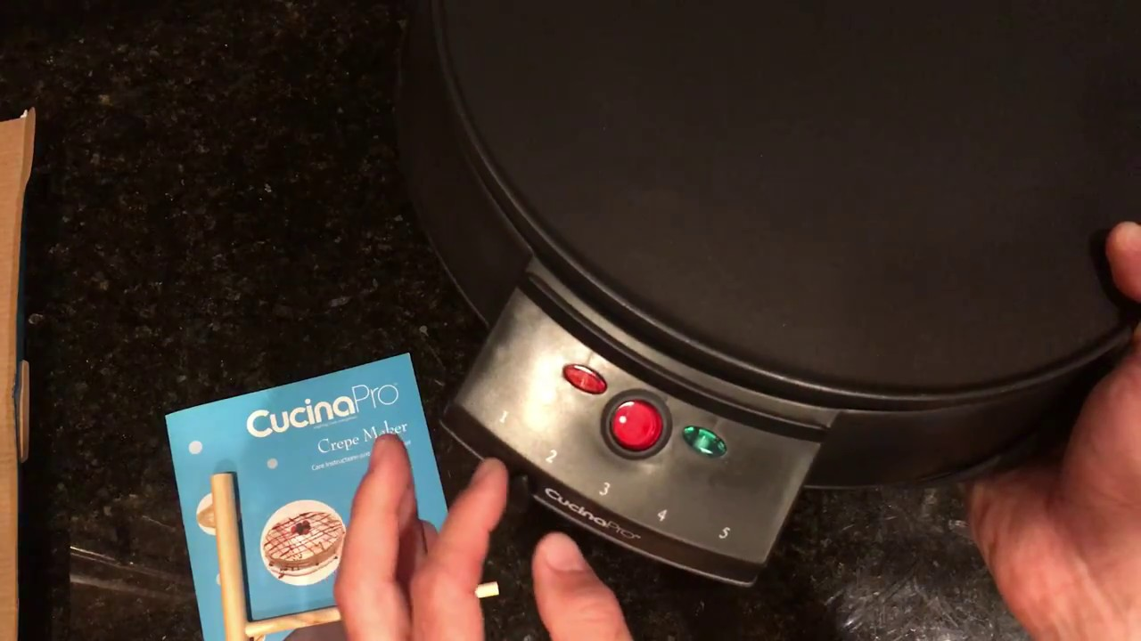 Amazon Cucinapro Cucinapro Electric Griddle And Crepe Maker Unboxing