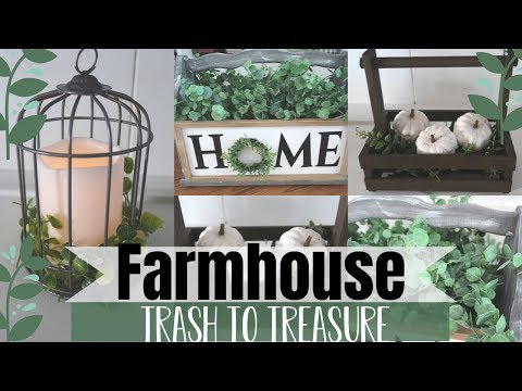 3 FARMHOUSE TRASH TO TREASURE | THRIFT STORE MAKEOVERS | GARAGE SALE FINDS