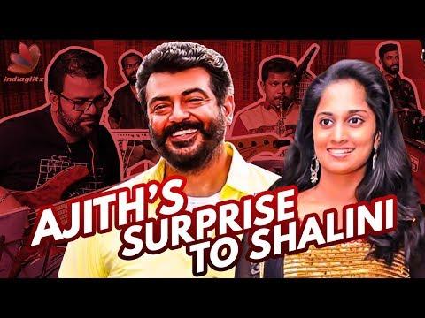 Ajith's Romantic Surprise to Shalini : Mani & Band Interview   Vijay TV Super Singer Performance