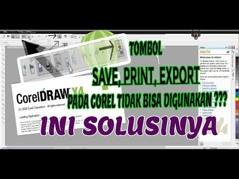 Cara Mengatasi CorelDRAW tidak bisa Save As | How To fix corelDRAW CAN'T Save , export file , print.