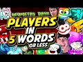 Every GEOMETRY DASH Player in 5 WORDS OR LESS