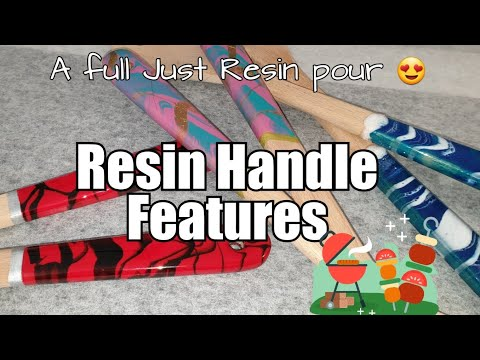 378 - EXCITING 😁 Resin Handles / Wooden Utensils / Just Resin