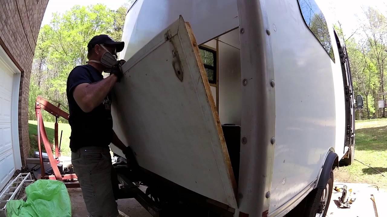 2a4e499cb3 Box Truck Camper Scrapyard finds and Tailgate install 15 - YouTube