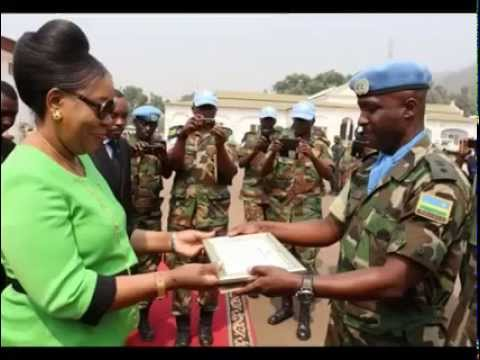 Rwanda Defence Force in Bangui / Central Africa Republic