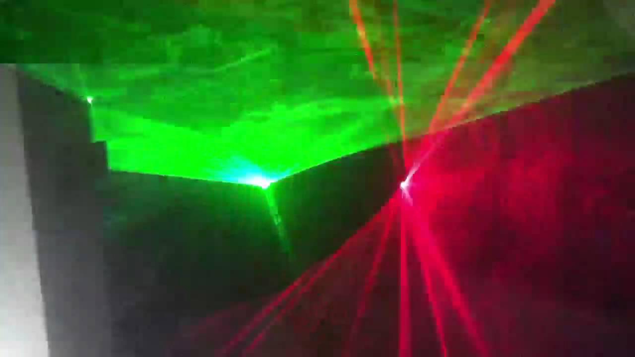 Mein Zimmer (Laser, Nebelmaschine, Stroboskop) - YouTube