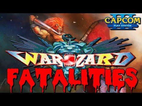 Capcom Warzard / Red Earth (ウォーザード, Wōzādo) All Fatalities 60fps!