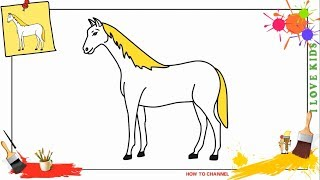 horse step draw easy beginners
