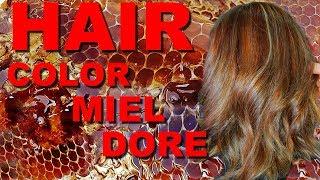 Hair color cuivré  miel #34 comment avoir une colorarion Blond doré cuivré Hair color 7gc @redken ..