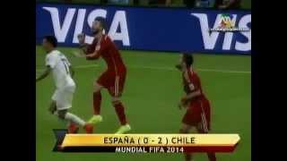 España vs Chile (0-2)   Mundial Brasil 2014   ATV