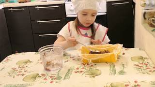 """Торт без выпечки """"Баунти"""". Готовим вместе с детьми. Простые рецепты"""