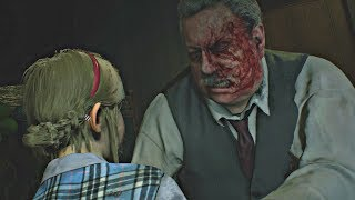 Resident Evil 2 Remake 2019 - Sherry vs Police Chief Boss Battle (Claire Story) RE2 2019 PS4 Pro