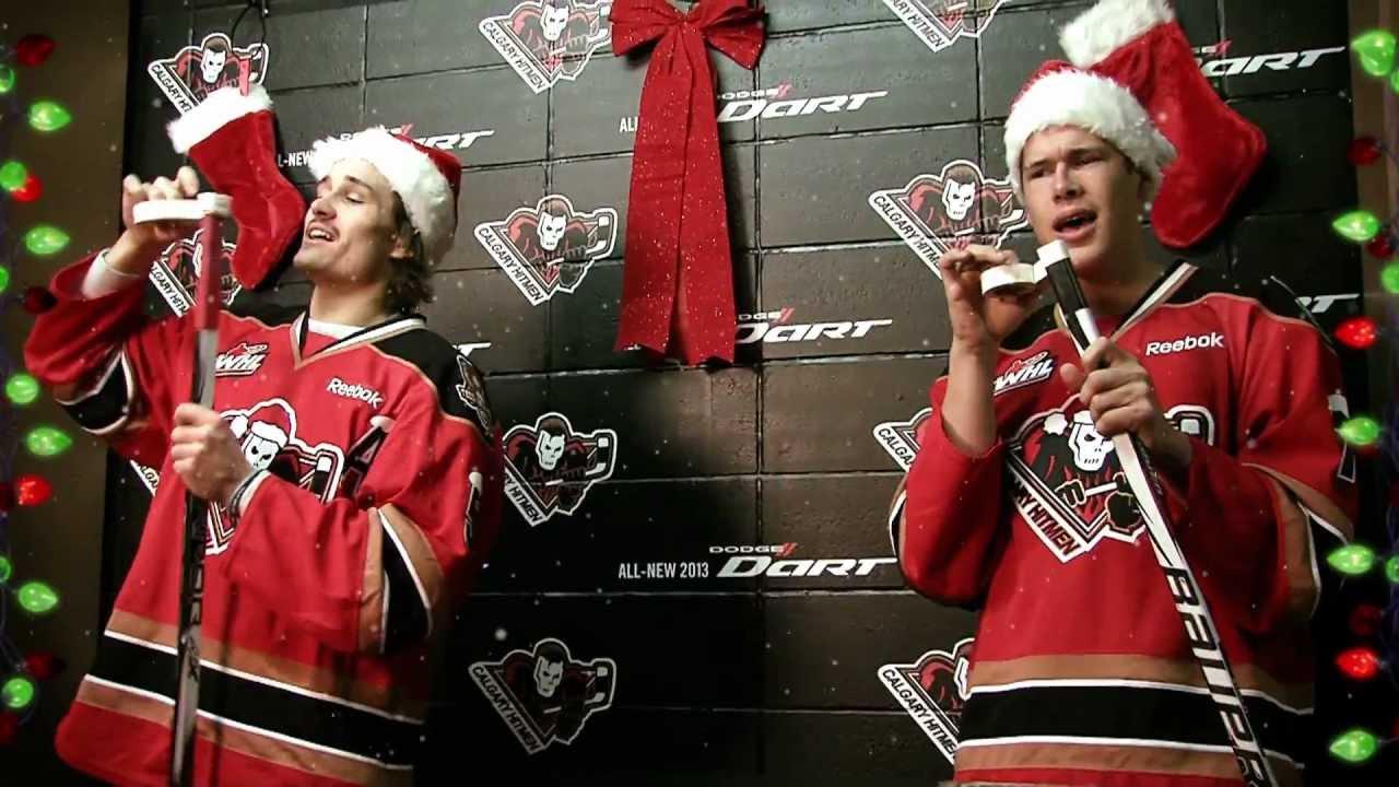 Calgary Hitmen Rockin Around The Christmas Tree Youtube