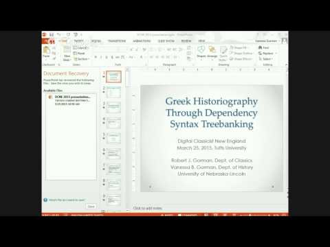 DCNE #4 -- Greek Historiography Through Dependency Syntax Treebanking