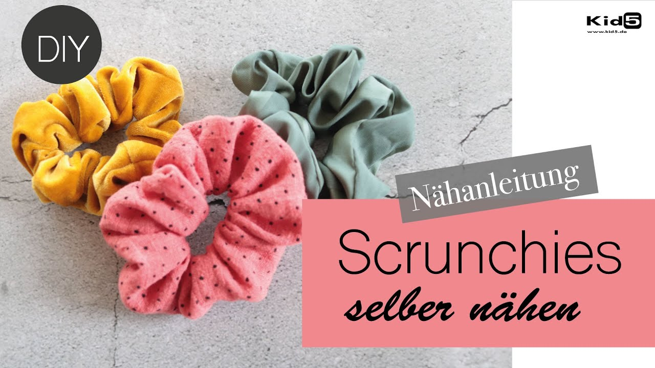 """""""Scrunchie"""" Haargummis selber nähen :-) super easy Nähtutorial DIY"""