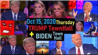 Trump vs savannah guthrie + biden town ...