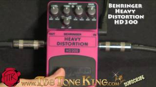 Bugera Behringer HD300 Heavy Distortion Pedal Demo Review Boss MD2 MD-2 Mega Distortion HD-300