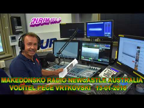 MAKEDONSKO RADIO 2NUR 103.7 FM NEWCASTLE AUSTRALIA 13 01 2018