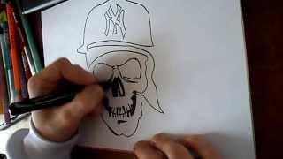 Граффити скетчSkull 2