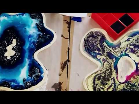 DIY Resin Art Tutorial | Free Form Geodes thumbnail