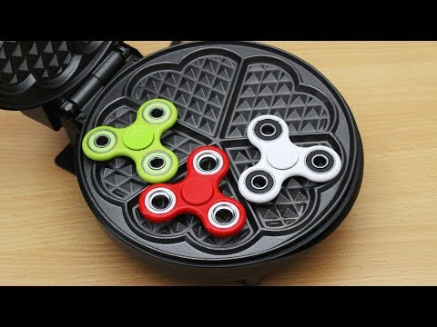 EXPERIMENT WAFFLE IRON vs FIDGET SPINNER TOY