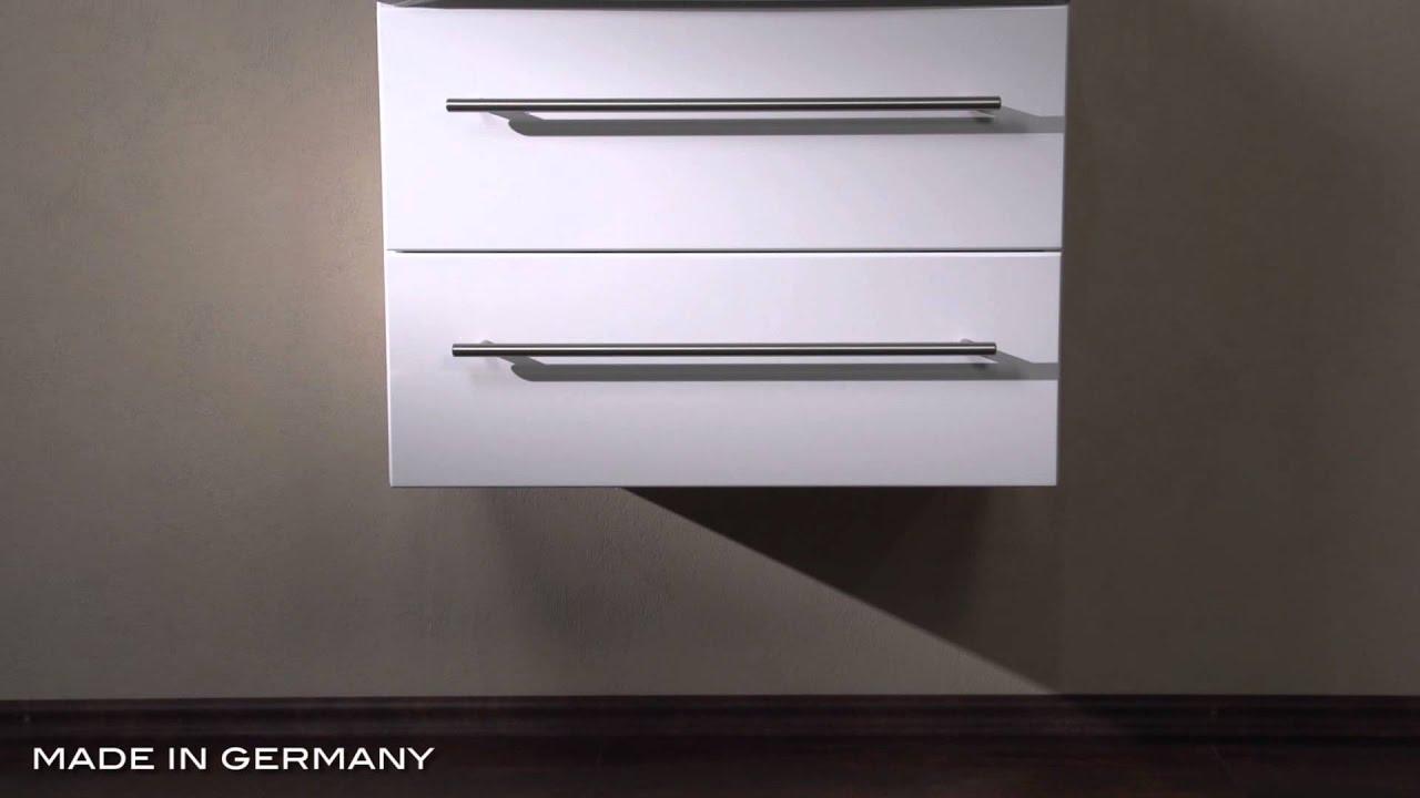 badm bel keramag renova nr 1 65 cm weiss hochglenz youtube. Black Bedroom Furniture Sets. Home Design Ideas